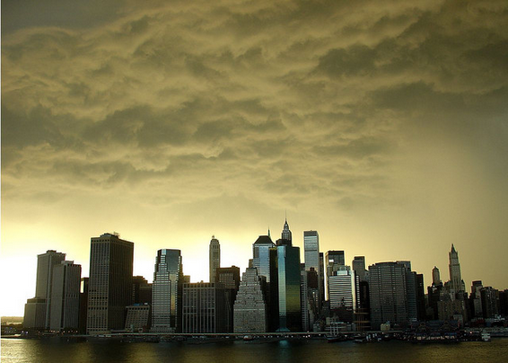NYC storm brewing