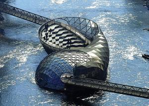 Vito Acconci designed an island in the Mur River