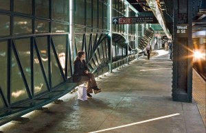 Acconci's West 8th Street Station design flows like waves or a rollercoaster