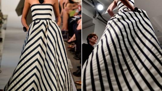 Oscar de la Renta's Striped Ballgown