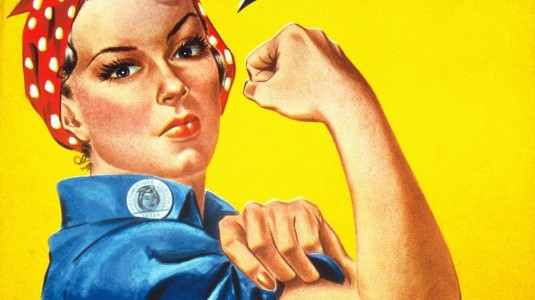 Rosie the Riveter was actually a Michigan factory worker named Geraldine Hoff