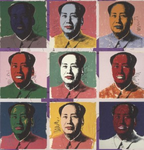 Andy Warhol's famous Mao paintings