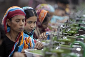 Garment workers in Bangladesh. Image: AP / A.M. Ahad