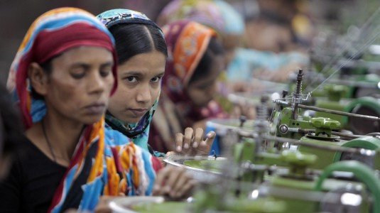 Garment workers in Bangladesh. Image: AP / A.M. Ahad