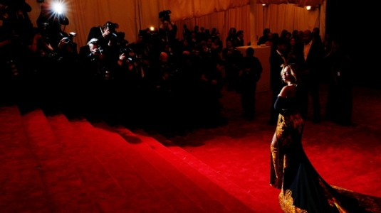 Beyonce at the 2013 Met Gala.
