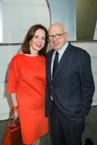 Marie-Josee Kravis with Ellsworth Kelly at a MoMA luncheon held in his honor.