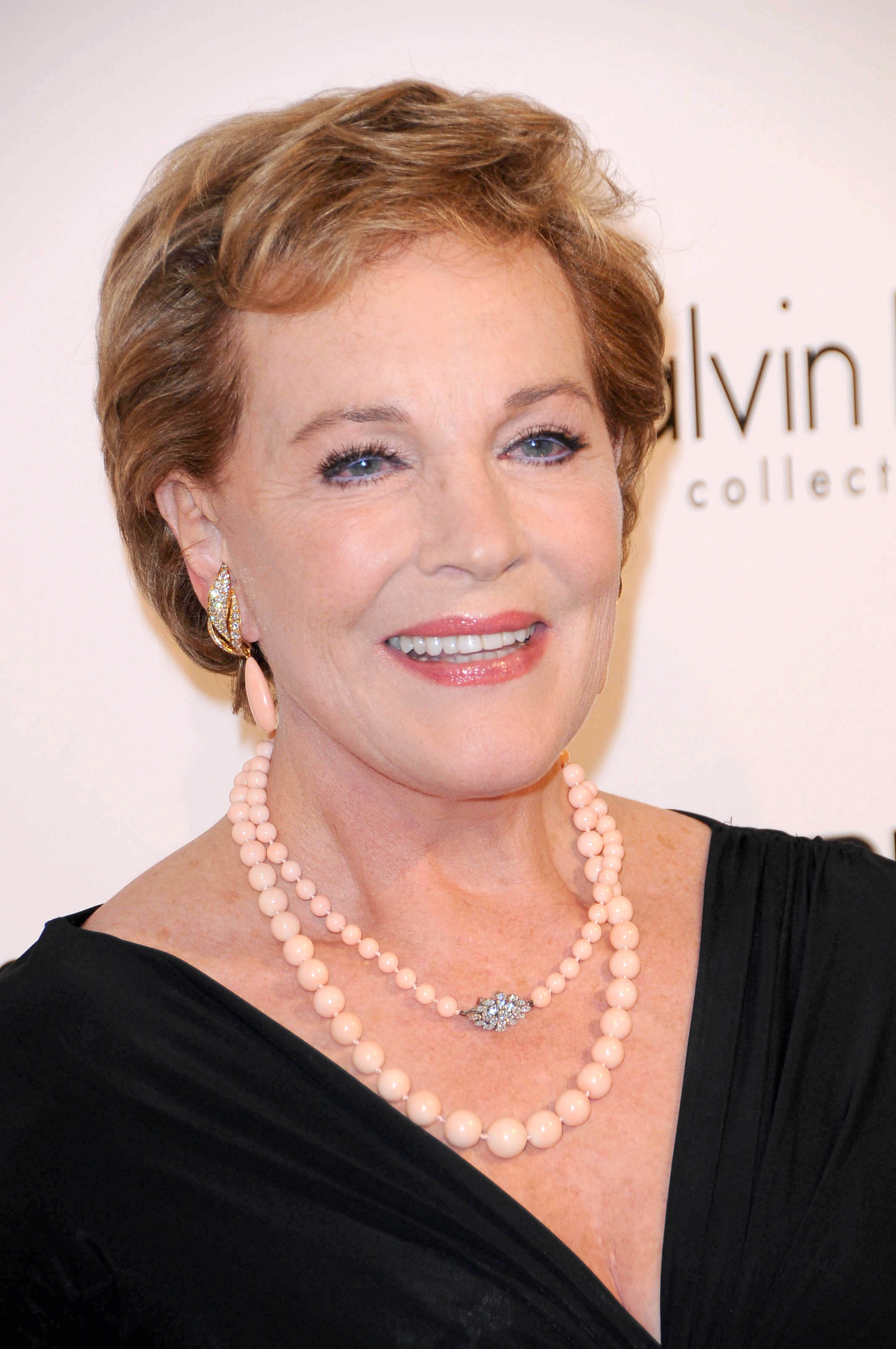 The 82-year old daughter of father Edward Charles Wells and mother Barbara Ward Wells, 174 cm tall Julie Andrews in 2017 photo
