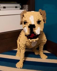 Lauren Santo Domingo's dog -- Nathan Sawaya style.
