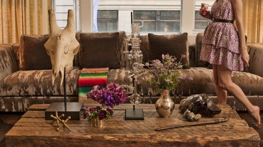 Lauren Santo Domingo in her NYC Loft.