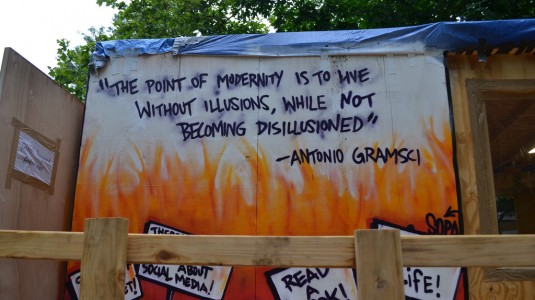 Gramsci Monument quote