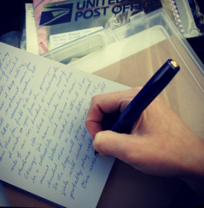 supporting local artists by writing to them