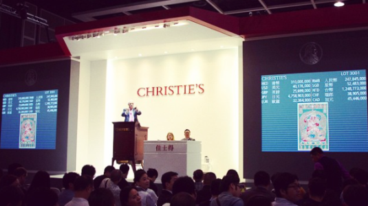 christie's art auction house