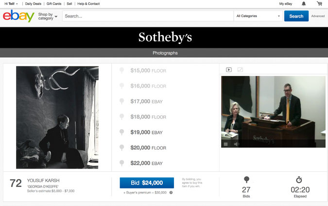 ebay sotheby's auction