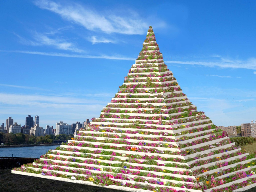 the living pyramid socrates sculpture park