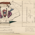 An architectural drawing by Kiesler.