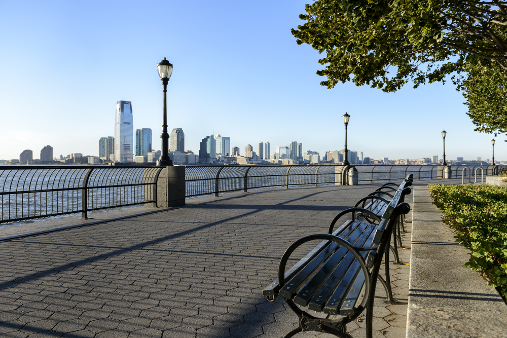 A view of the water from Battery Park.
