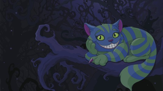 An illustration of the Cheshire Cat.