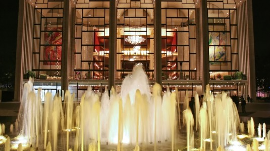 Lincoln Center at night.