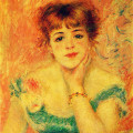 "Renoir's ""Portrait of the Actress Jeanne Samary."""
