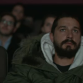 A still from Shia LaBeouf's live stream as he watches his own films.