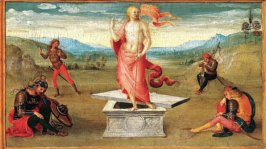 Perugino's The Resurrection.
