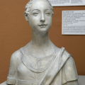 A cast of Mino da Fiesole's Portrait of a Young Woman at the Victoria and Albert Museum.