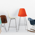 A colorful grouping of chairs