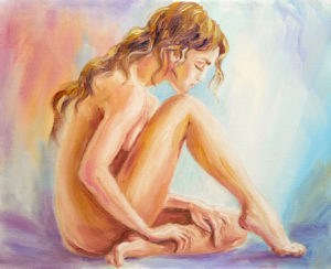 A painting of a naked woman.