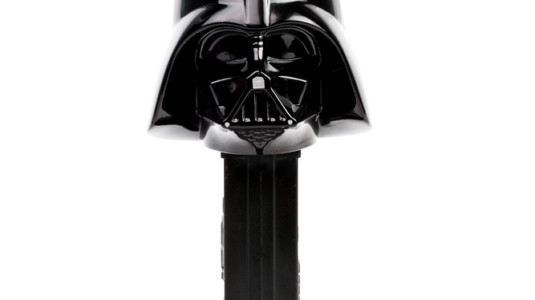 A photo of a Darth Vader Pez dispenser.