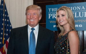 A photo of Donald Trump and his daughter, Ivanka Trump.