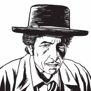 An illustration of Bob Dylan.