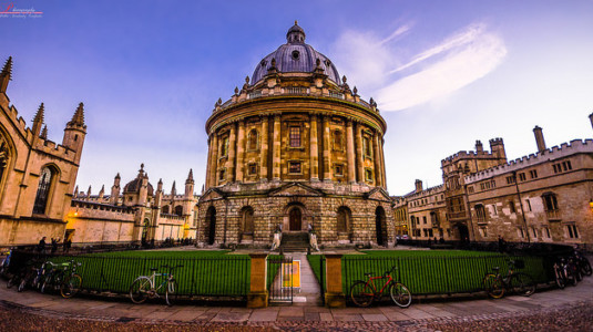 A picture of Oxford University.