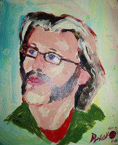 "A portrait painted by Tim Patch (AKA ""Pricasso"")."
