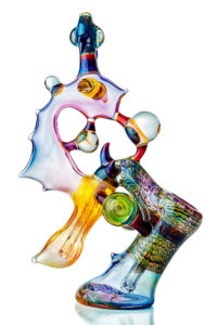A glass-blown custom-made bong.