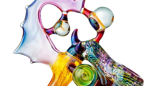 A glass-blown custom-made bong.