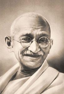 A photo of Gandhi.