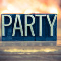 """An image with the word """"party."""""""