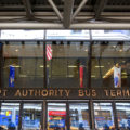 A photo of the Port Authority Bus Terminal located in New York.
