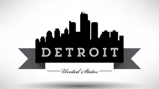 An image of the city of Detroit.