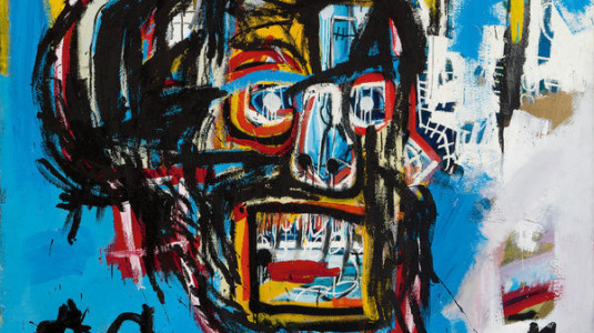 A painting by graffiti artist Jean-Michel Basquiat.