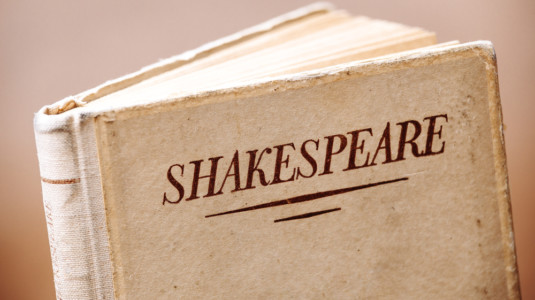 A picture of a Shakespeare book.
