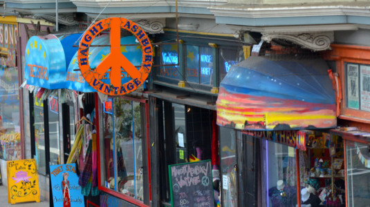 A photo of San Francisco's Haight-Ashbury neighborhood, where the Summer of Love first began.