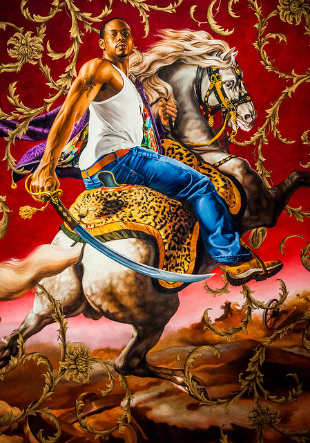 A painting by Kehinde Wiley titled