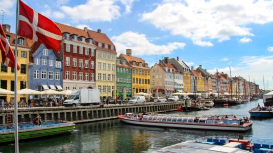 A scenic view of Copenhagen, Denmark.