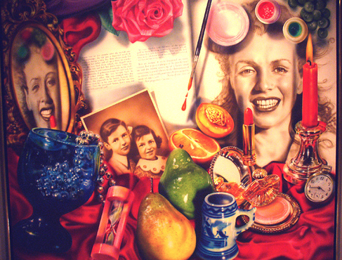 Audrey Flack Marilyn painting