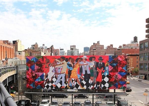 outdoor art installation high line NYC