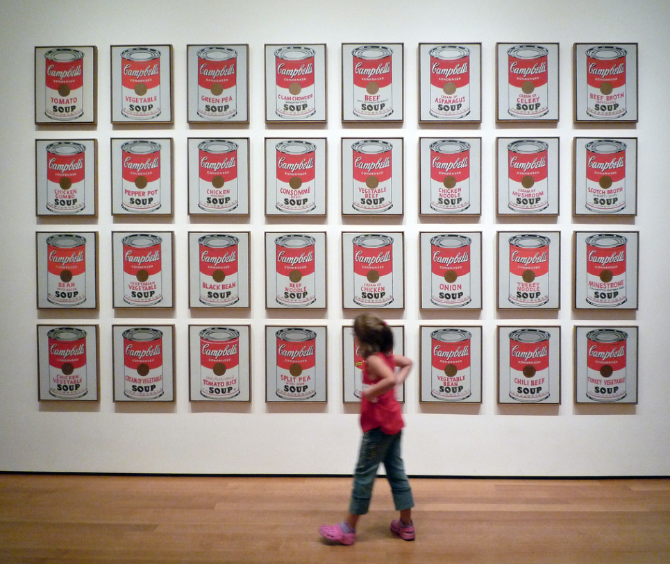 Andy Warhol soup cans art