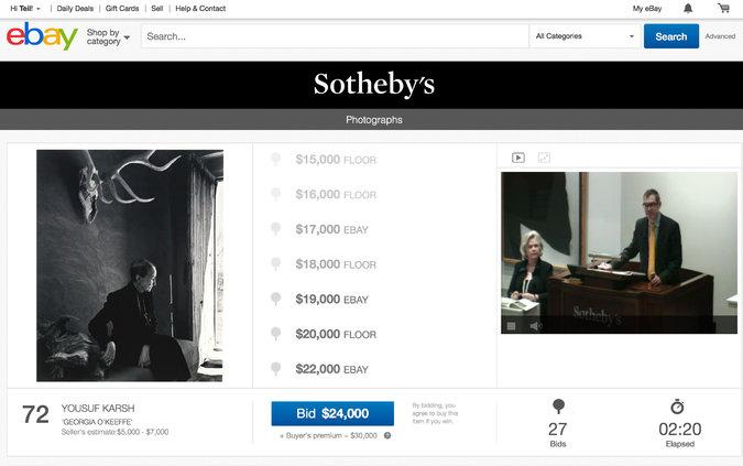 ebay sotheby's auction