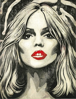 Fairey's Debbie Harry portrait.