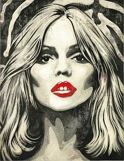 Street Artist Shepard Fairey Creates New Rock Star Portraits for Sotheby's